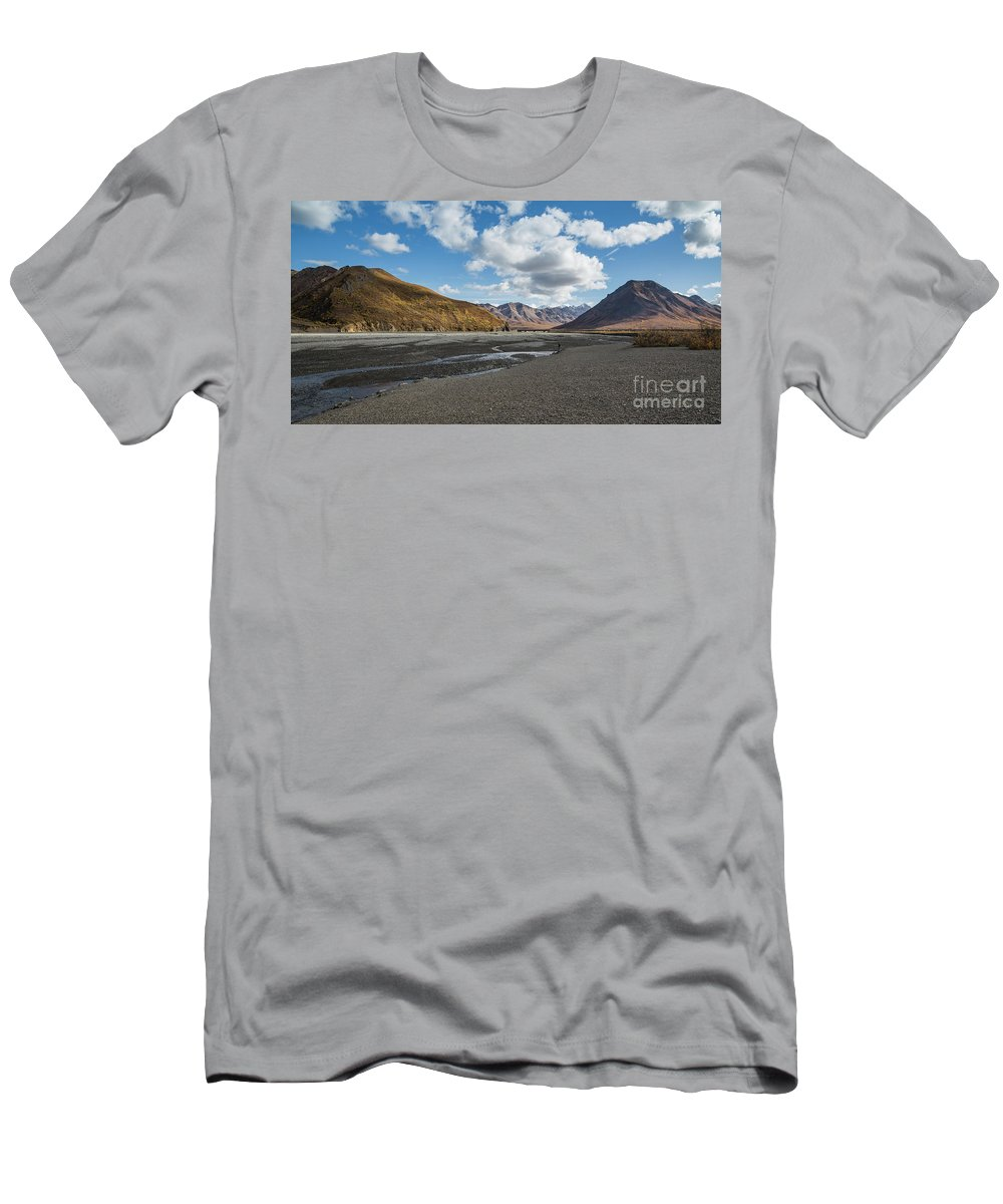 Toklat River Men's T-Shirt (Athletic Fit) featuring the photograph Toklat River by Eva Lechner