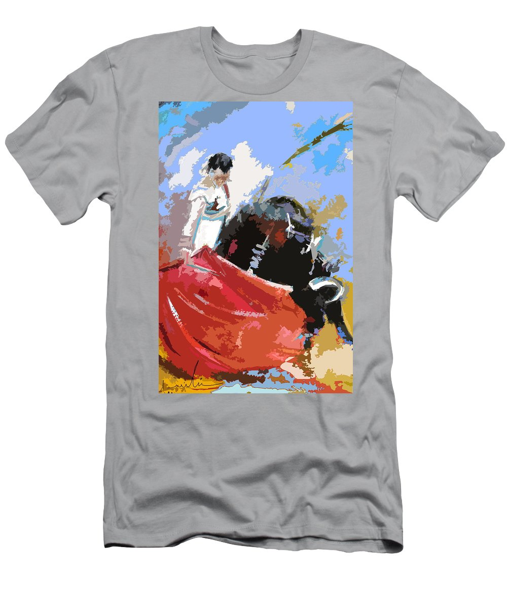 Animals Men's T-Shirt (Athletic Fit) featuring the painting Toroscape 36 by Miki De Goodaboom