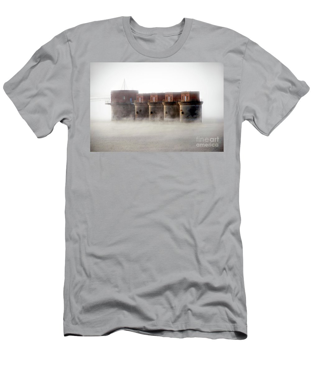 Scenic Tours Men's T-Shirt (Athletic Fit) featuring the photograph Towers Rising by Skip Willits