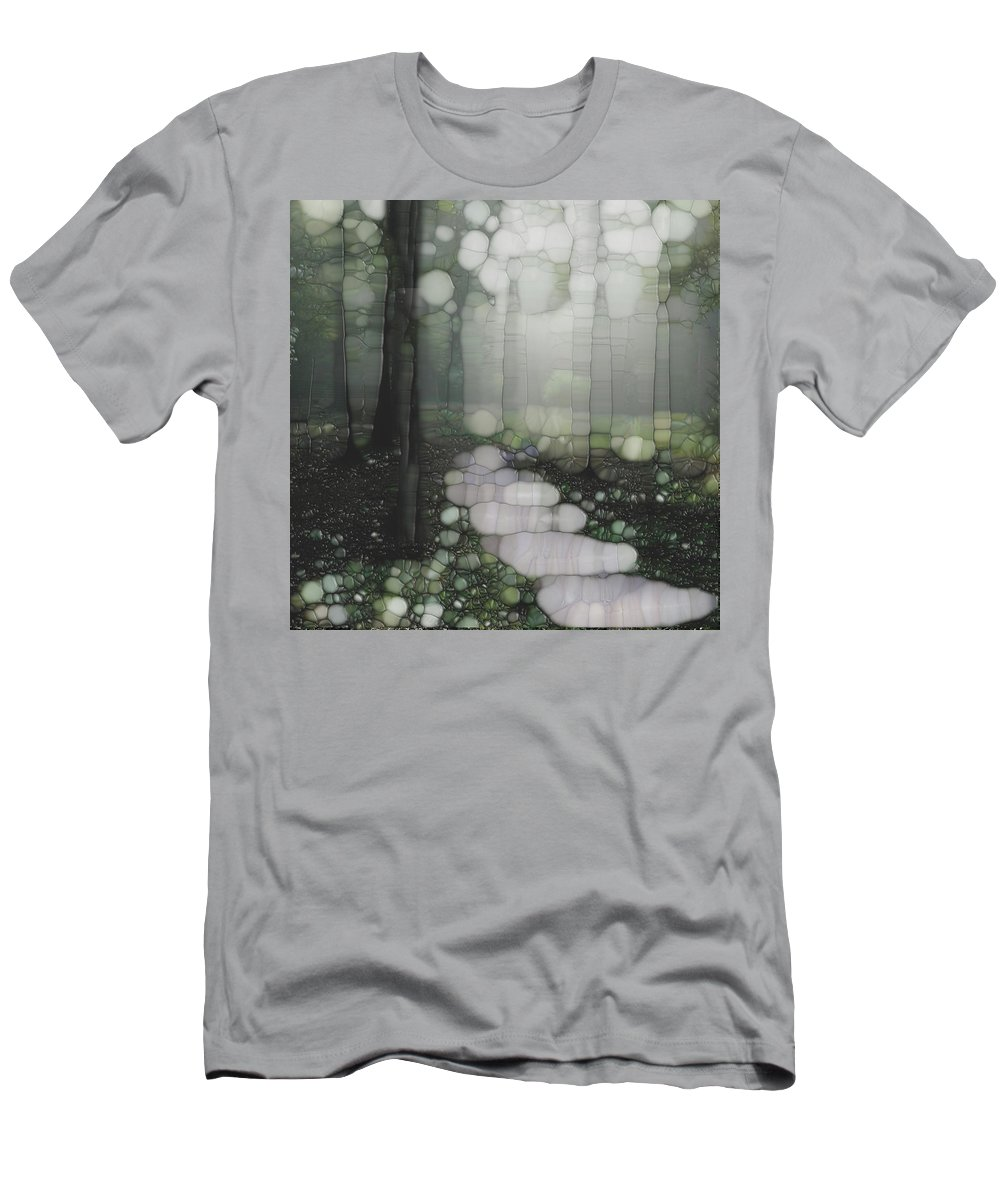Forest Men's T-Shirt (Athletic Fit) featuring the painting Trail Series 5 by Jack Zulli