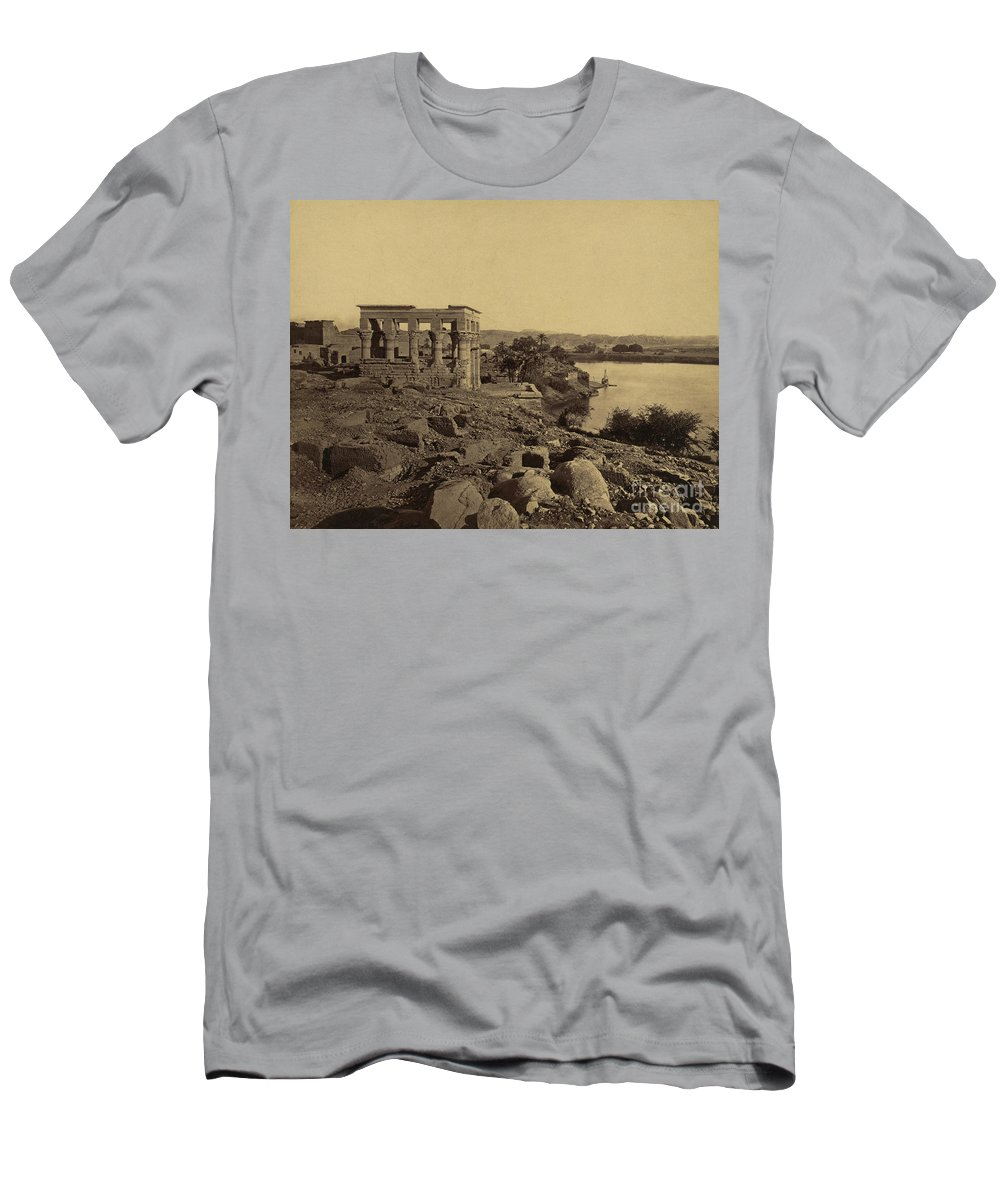 Archeology Men's T-Shirt (Athletic Fit) featuring the photograph Trajans Kiosk Aka The Pharaohs Bed by Science Source