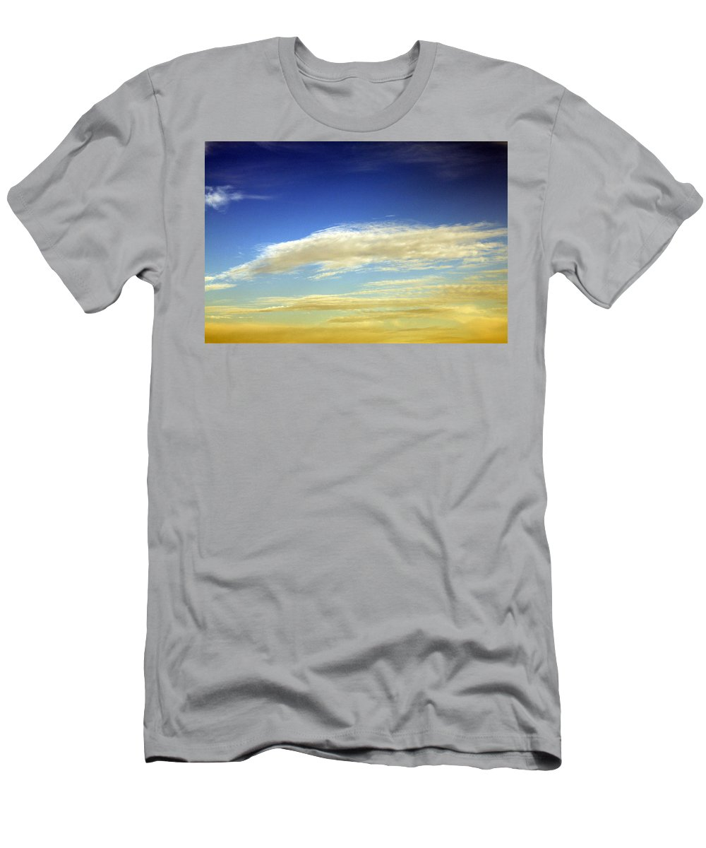 Cloud Men's T-Shirt (Athletic Fit) featuring the photograph Travel Through Clouds by Munir Alawi