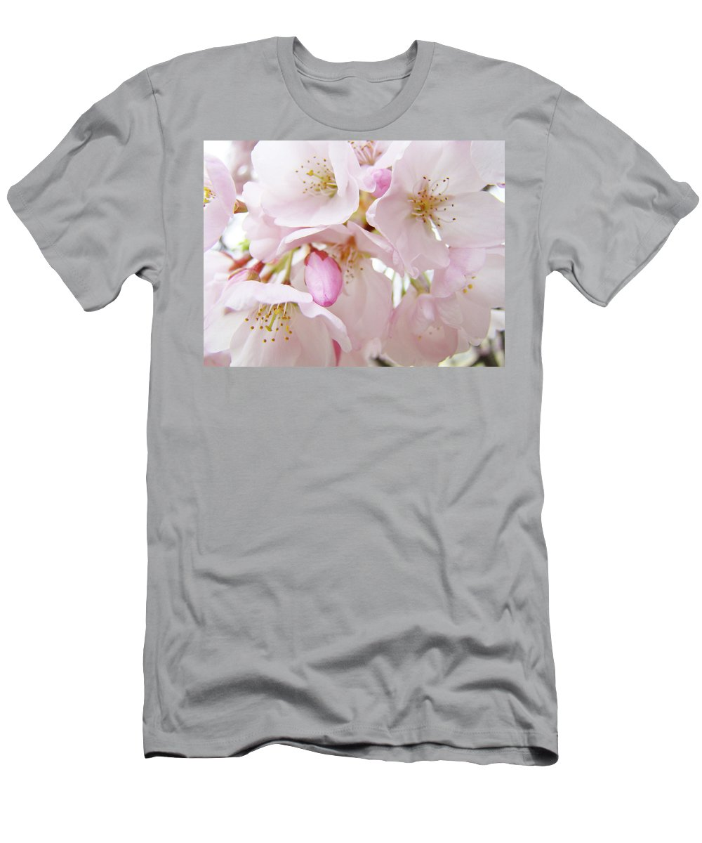 Blossom Men's T-Shirt (Athletic Fit) featuring the photograph Tree Blossoms Art Prints Canvas Pink Spring Blossoms Baslee Troutman by Baslee Troutman