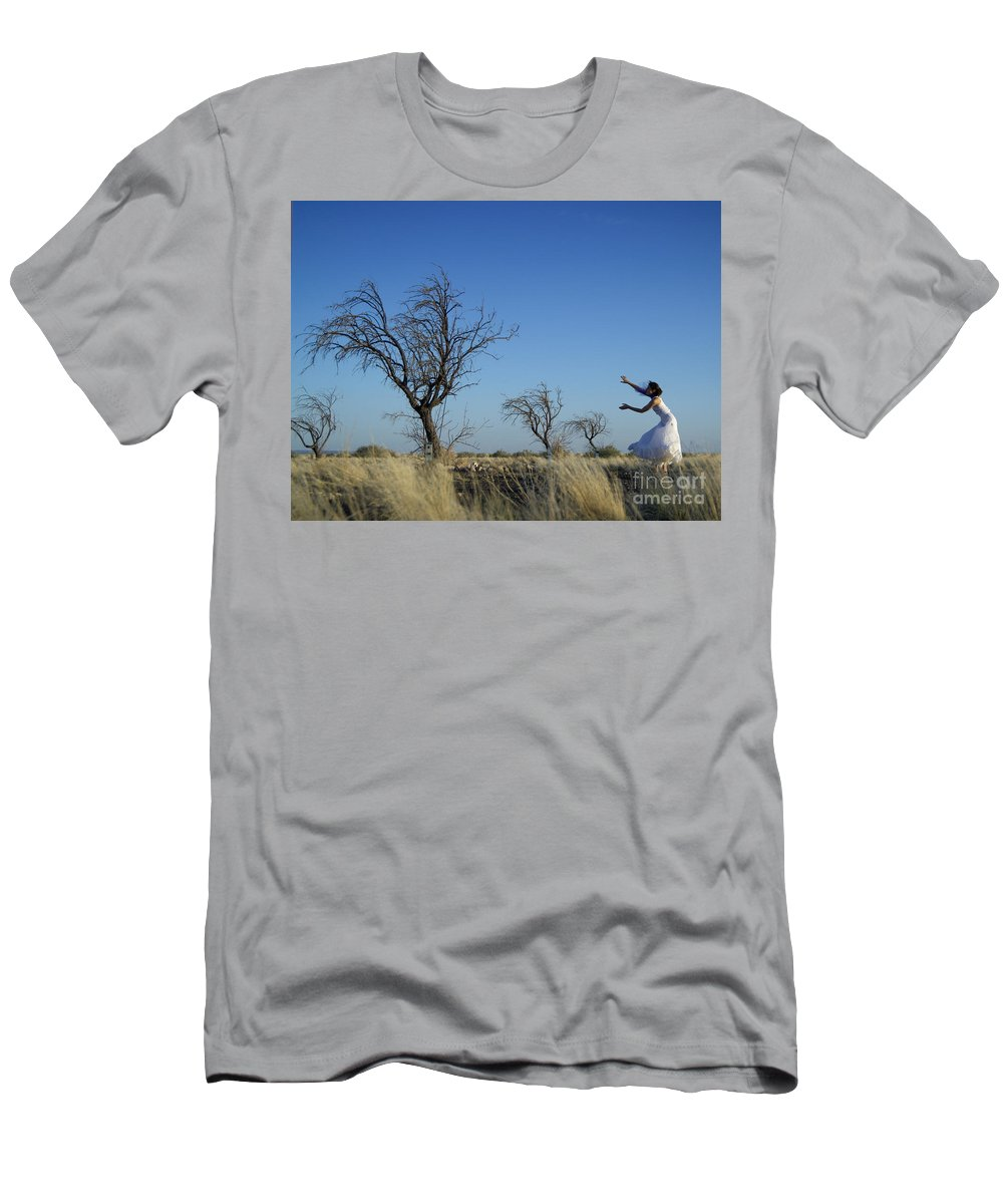 Landscape Men's T-Shirt (Athletic Fit) featuring the photograph Tree Echo by Scott Sawyer