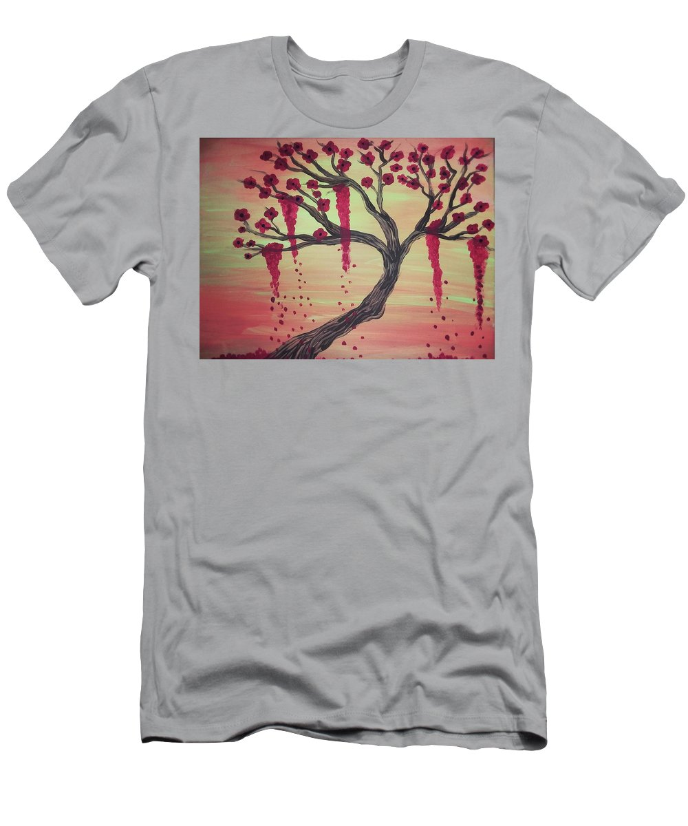 Tree Men's T-Shirt (Athletic Fit) featuring the painting Tree Of Desire 2 by Vale Anoa'i