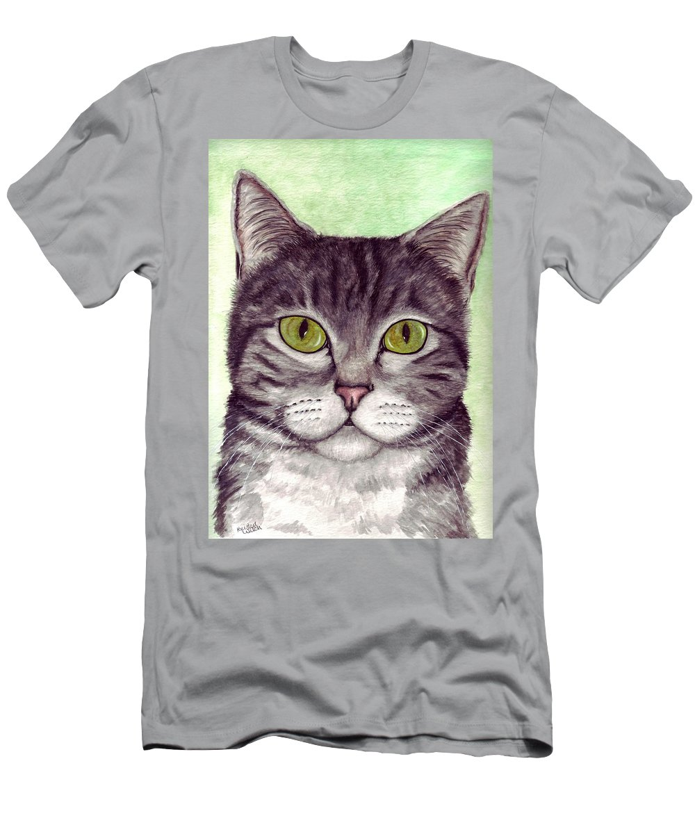Cat Men's T-Shirt (Athletic Fit) featuring the painting Tripper by Kristen Wesch