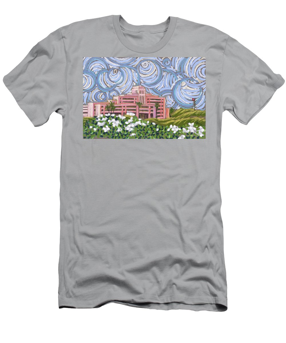 Acrylic Men's T-Shirt (Athletic Fit) featuring the painting Trippin At Trippler by Patti Bruce - Printscapes