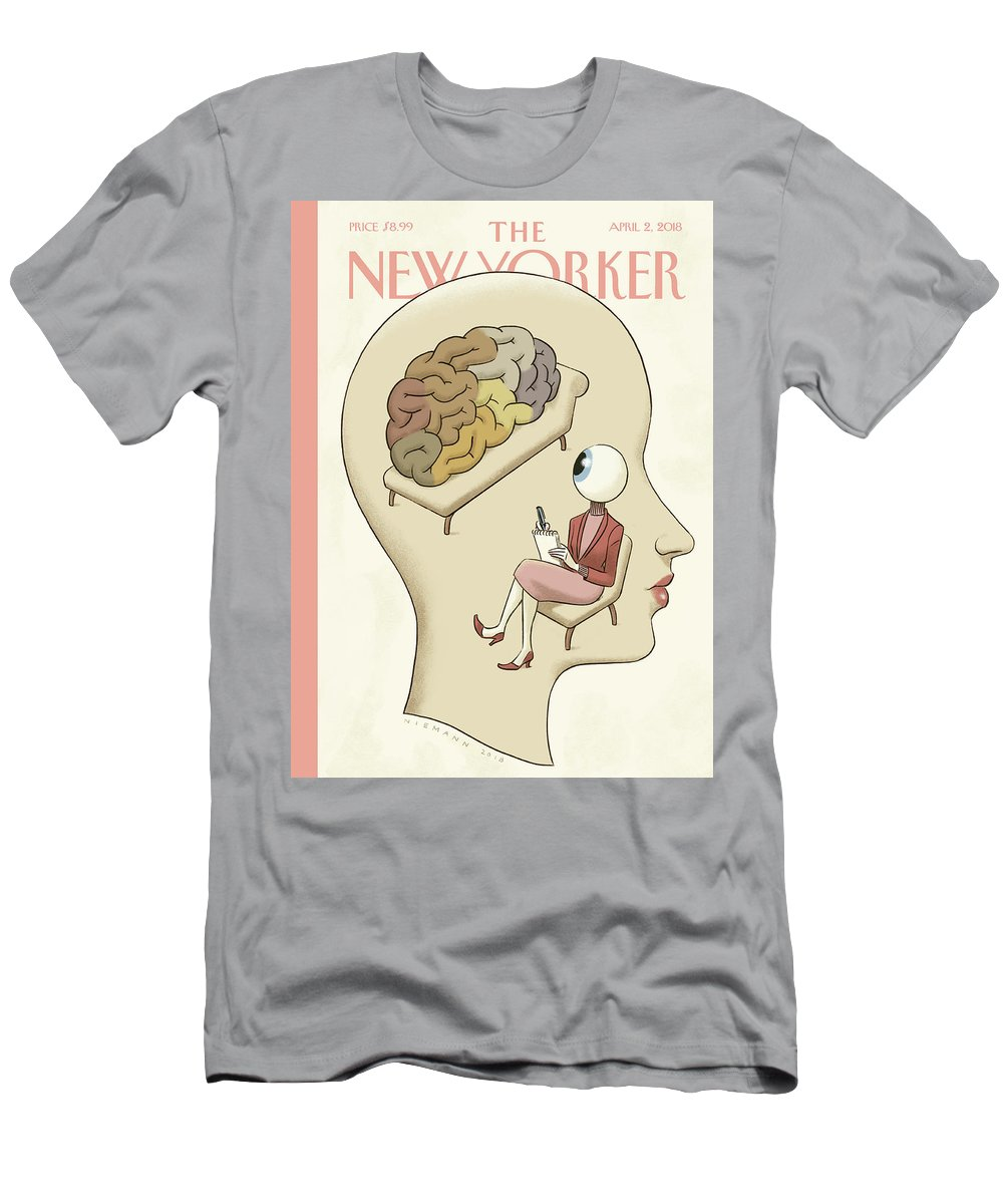 145235 T-Shirt featuring the painting Trompe-l'Oeil by Christoph Niemann