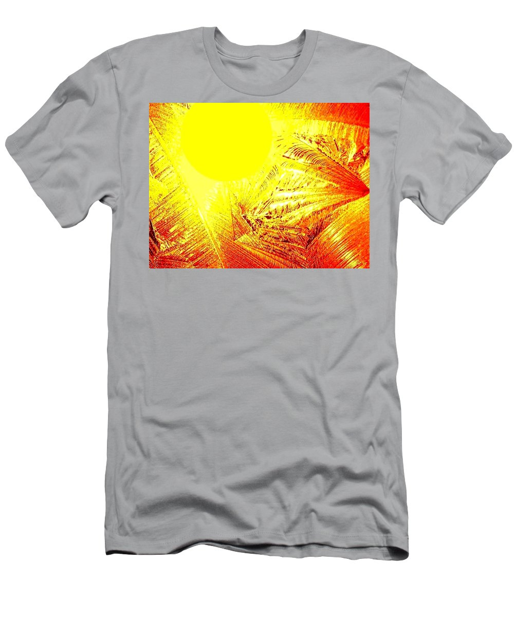 Abstract Men's T-Shirt (Athletic Fit) featuring the digital art Tropical Sunrise by Will Borden