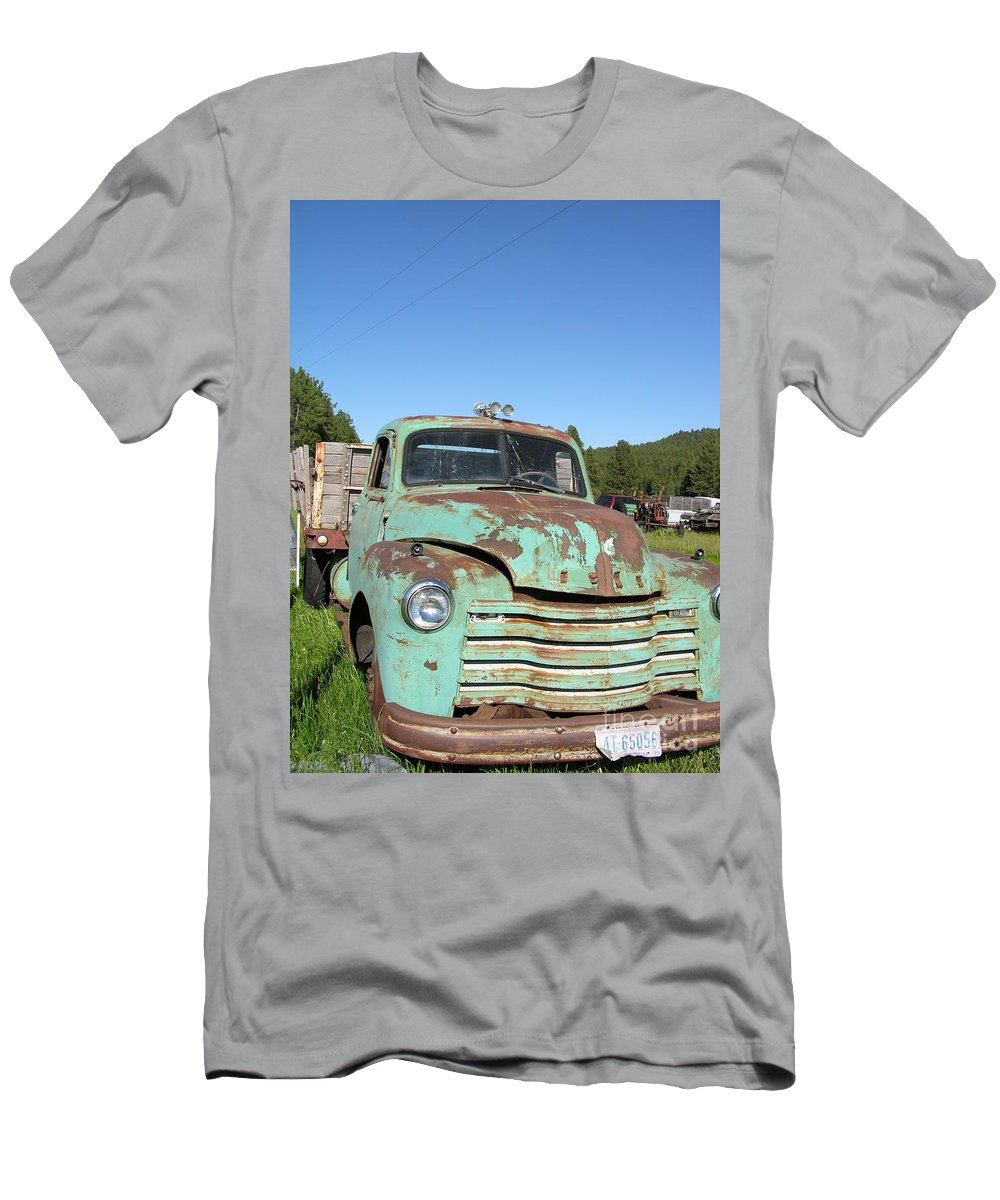 Truck Men's T-Shirt (Athletic Fit) featuring the photograph Truck Montana by Diane Greco-Lesser