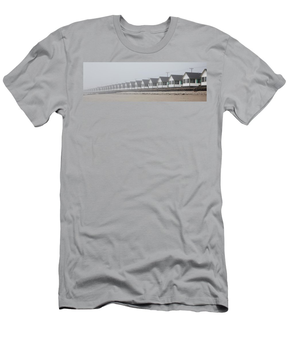 Truro Men's T-Shirt (Athletic Fit) featuring the photograph Truro Fog Imagination by Charles Harden