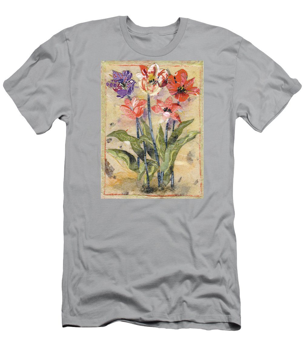 Limited Edition Prints T-Shirt featuring the painting Tulips by Nira Schwartz