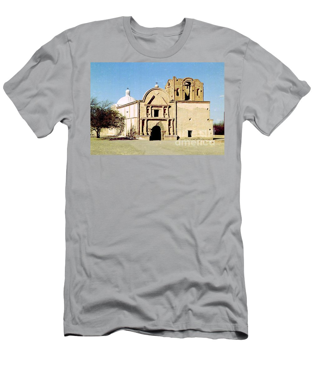 Mission Men's T-Shirt (Athletic Fit) featuring the photograph Tumacacori by Kathy McClure