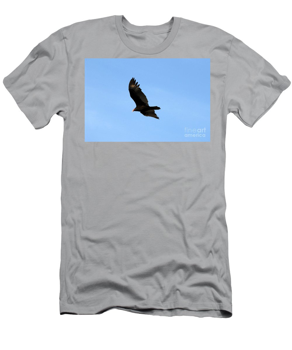 Turkey Vulture Men's T-Shirt (Athletic Fit) featuring the photograph Turkey Vulture by David Lee Thompson