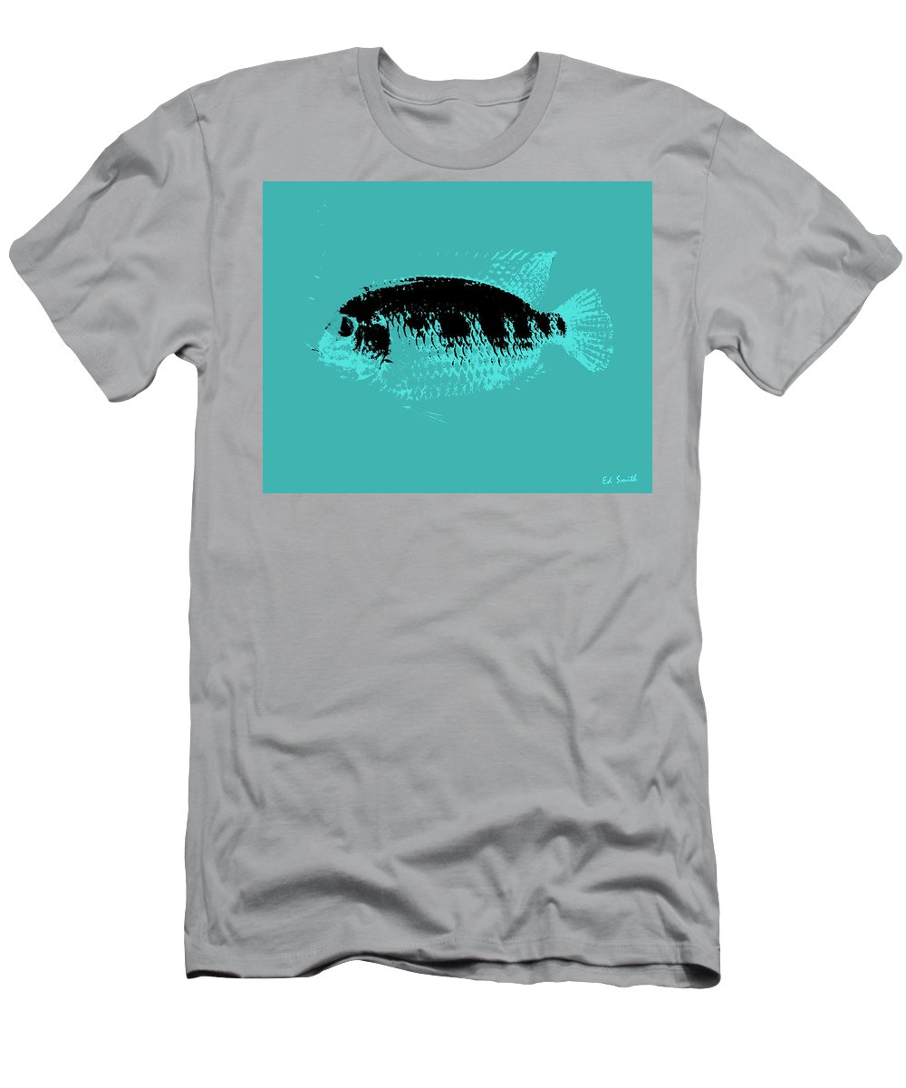 Turquoise Fish Men's T-Shirt (Athletic Fit) featuring the photograph Turquoise Fish by Ed Smith