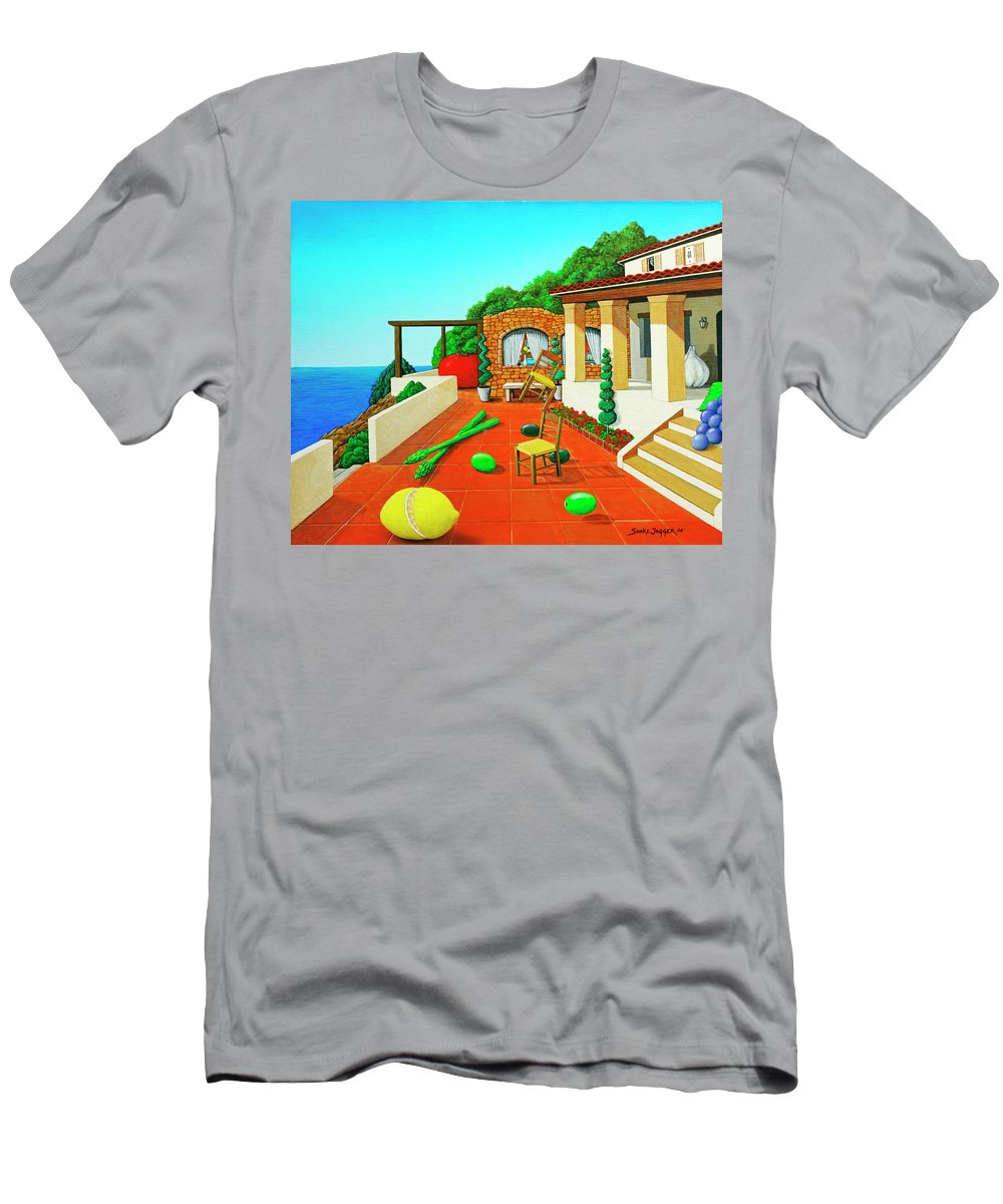 Tuscan Men's T-Shirt (Athletic Fit) featuring the painting Tuscan Vacation by Snake Jagger