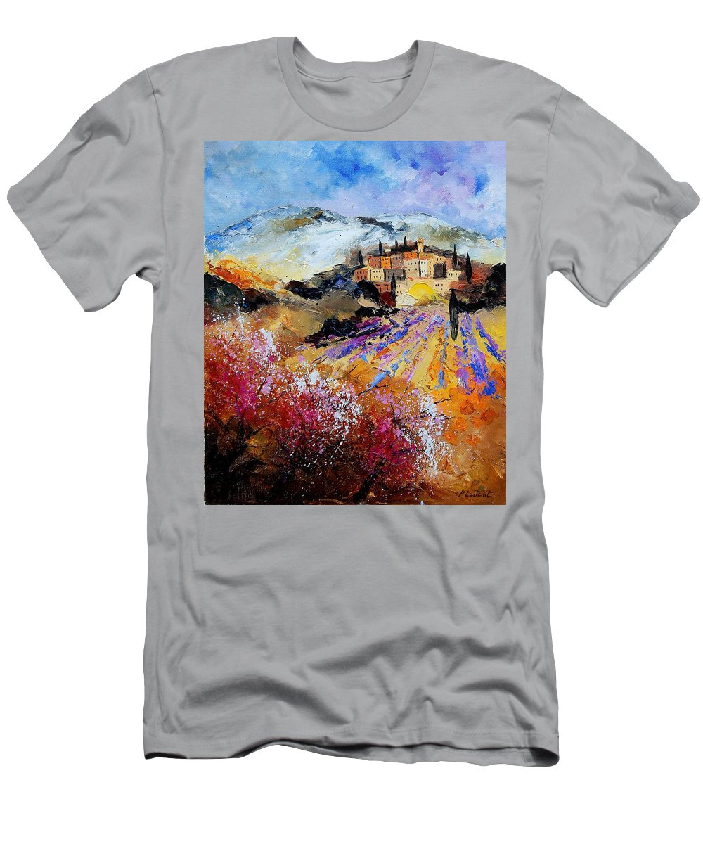 Provence Men's T-Shirt (Athletic Fit) featuring the painting Tuscany 56 by Pol Ledent