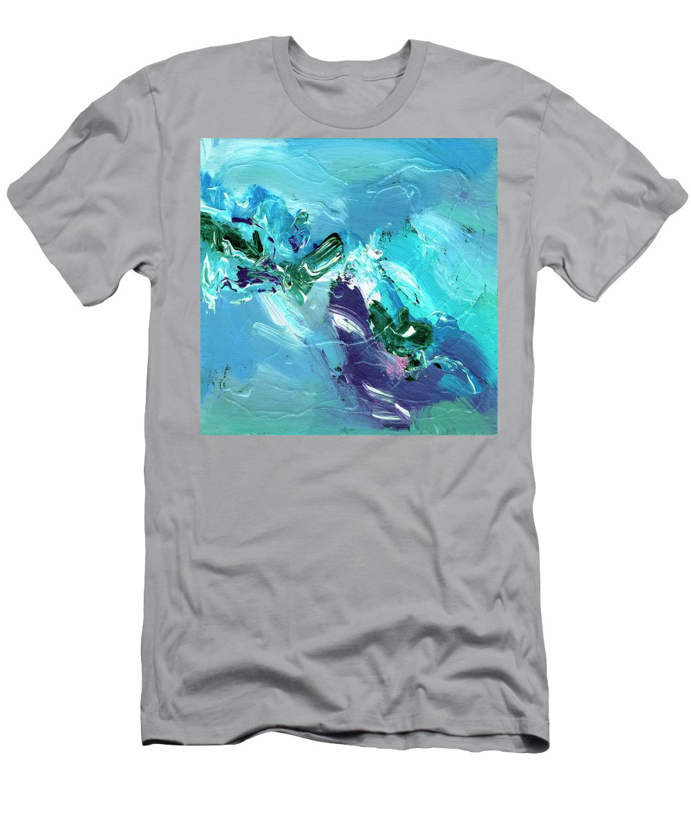 Abstract Men's T-Shirt (Athletic Fit) featuring the painting Twilight Big Sur by Dominic Piperata