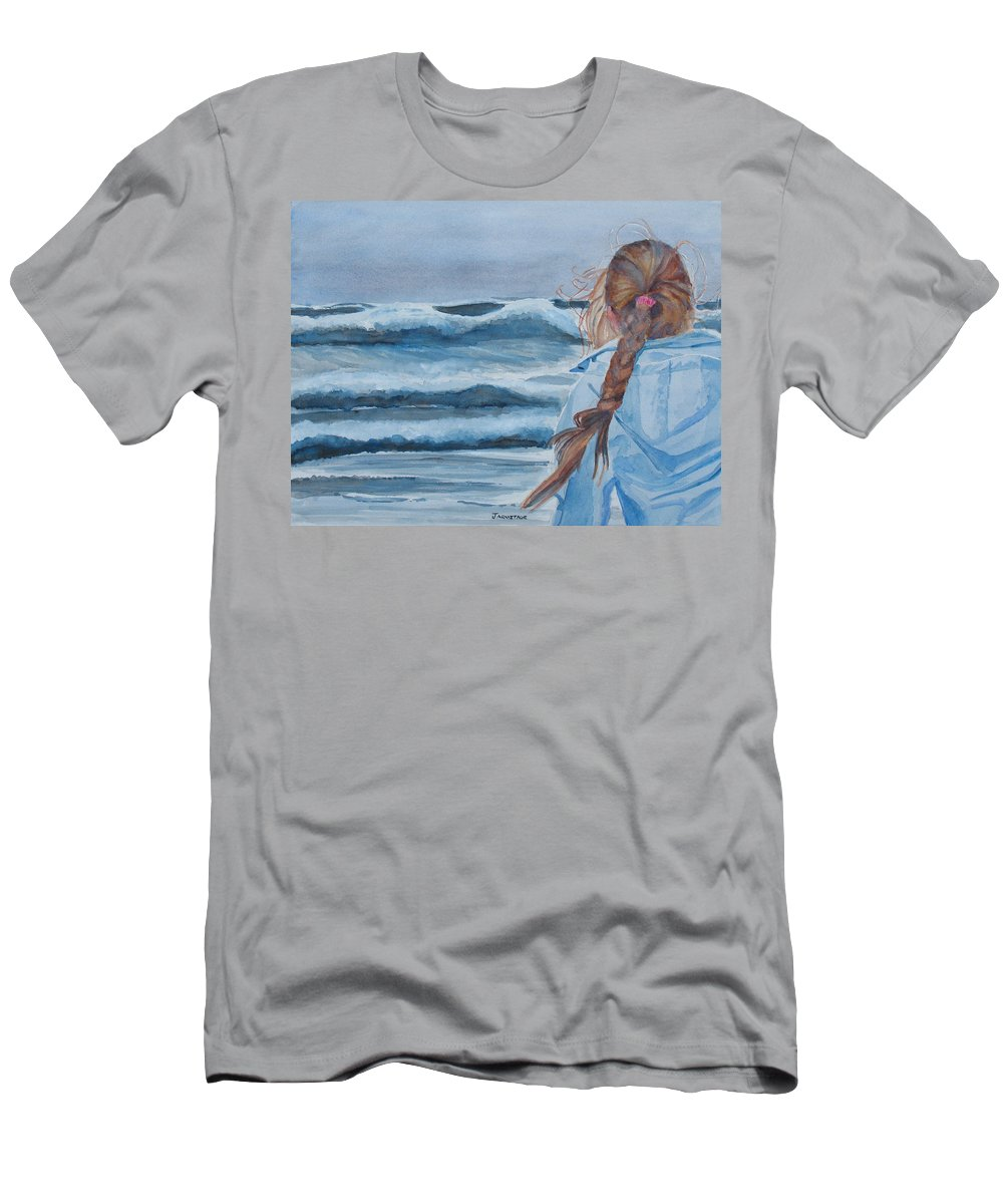 Ocean T-Shirt featuring the painting Twixt Wind and Water II by Jenny Armitage