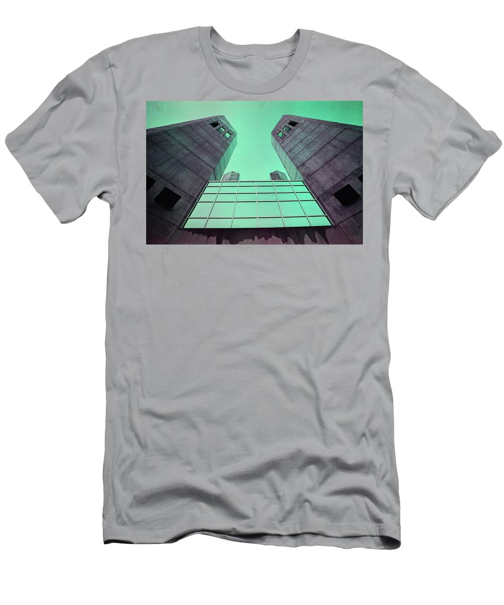 Towers Men's T-Shirt (Athletic Fit) featuring the photograph Two Towers by Daniel Santerre