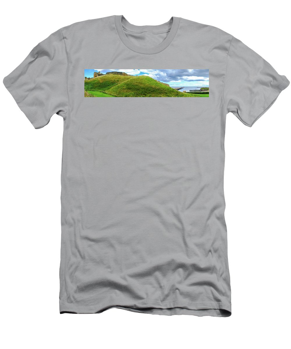 Newcastle Men's T-Shirt (Athletic Fit) featuring the photograph Tynemouth Panorama by Iordanis Pallikaras