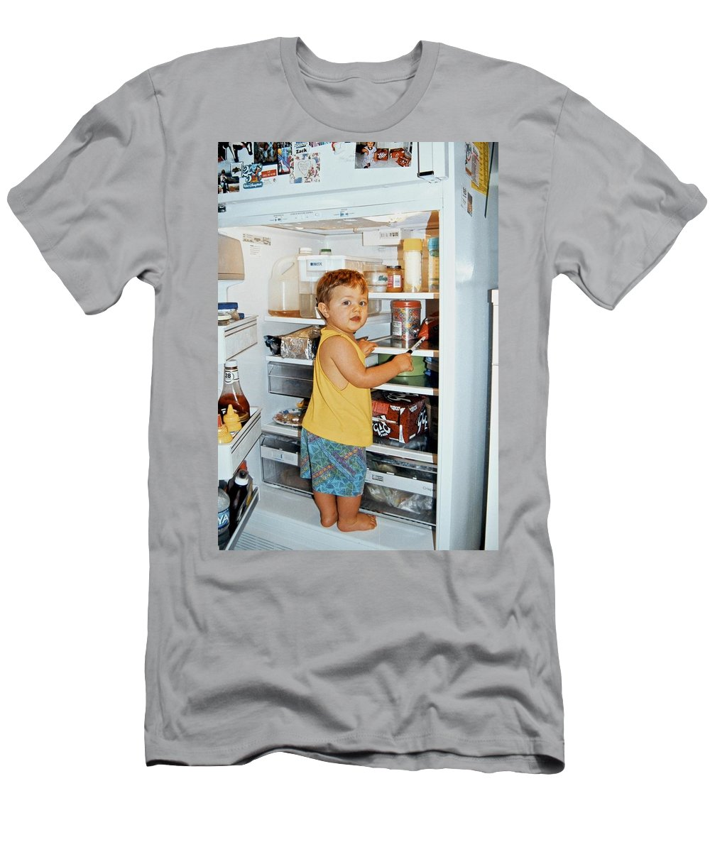 Boy Men's T-Shirt (Athletic Fit) featuring the photograph Uh Just Looking by Dale Chapel
