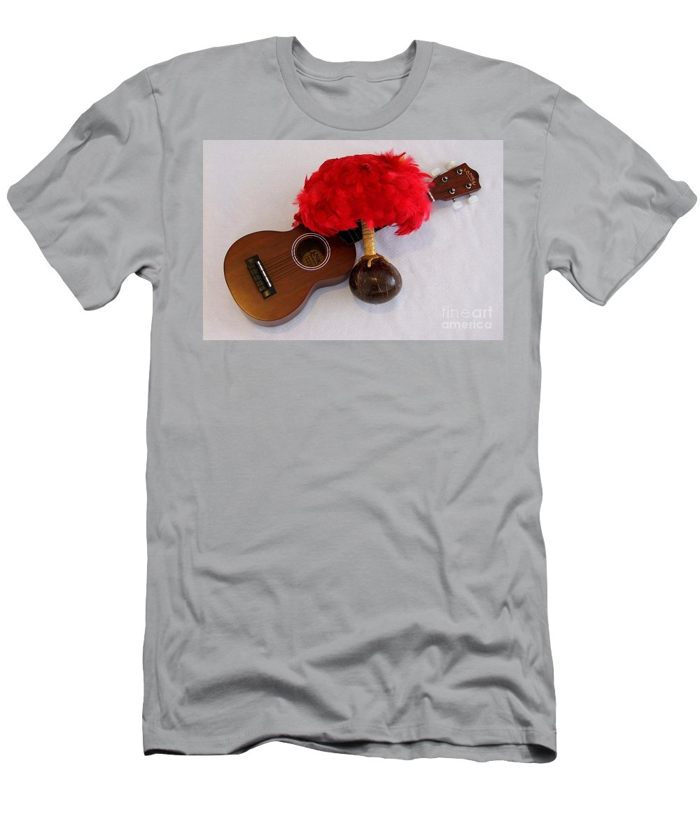 Mary Deal Men's T-Shirt (Athletic Fit) featuring the photograph Ukulele And Uliuli by Mary Deal