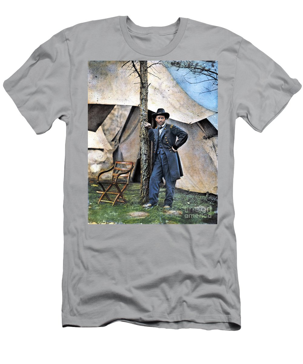 1864 Men's T-Shirt (Athletic Fit) featuring the photograph Ulysses S. Grant by Granger
