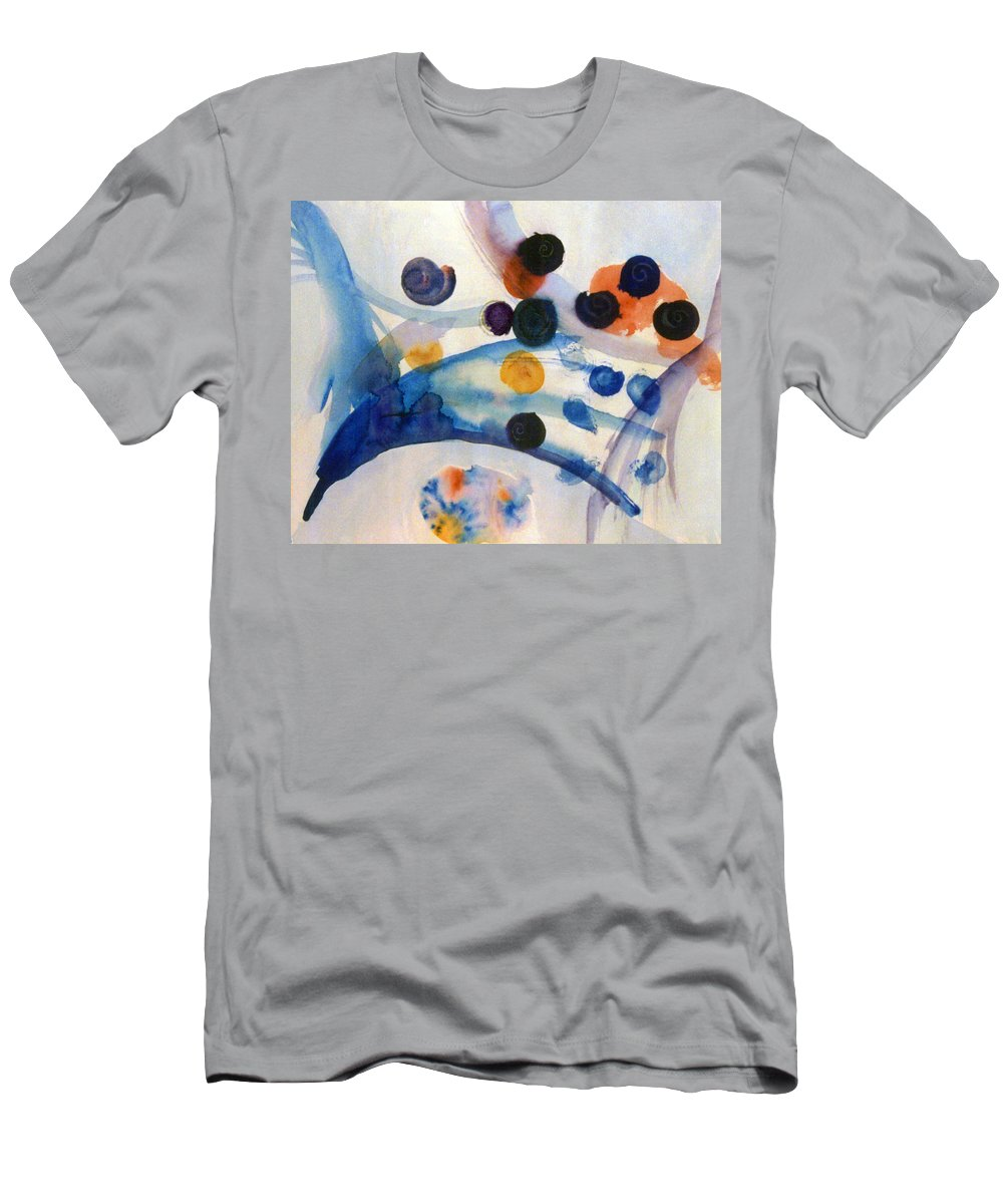 Abstract Men's T-Shirt (Athletic Fit) featuring the painting Under The Sea by Steve Karol