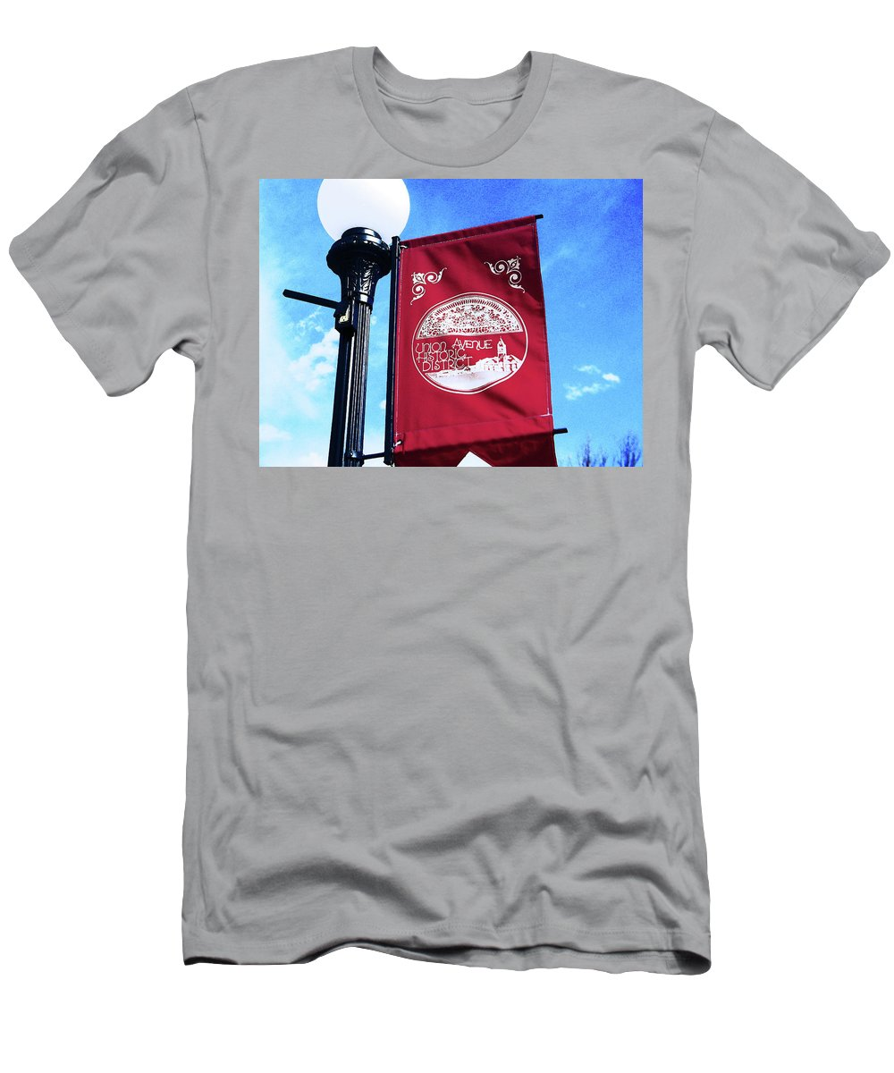 Abstract Men's T-Shirt (Athletic Fit) featuring the photograph Union Avenue Historic District by Lenore Senior