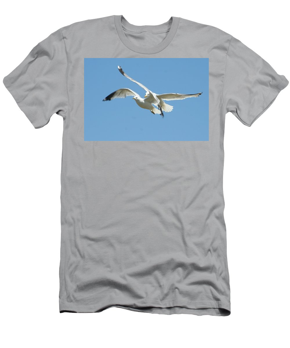 Gift Men's T-Shirt (Athletic Fit) featuring the photograph United We Fly by Barbara S Nickerson