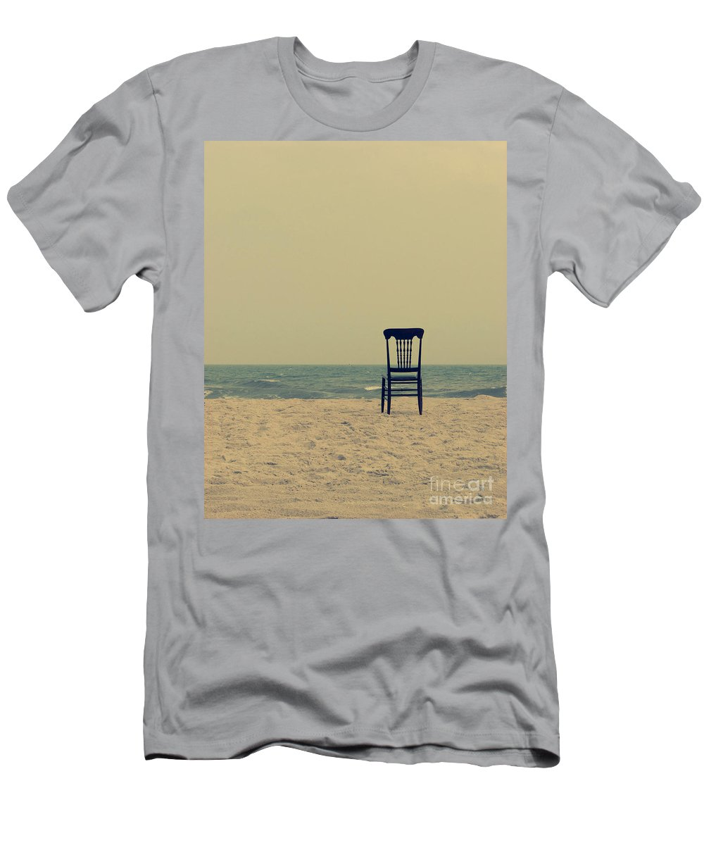 Ocean Men's T-Shirt (Athletic Fit) featuring the photograph Until Tomorrow And Tomorrow And Tomorrow by Dana DiPasquale