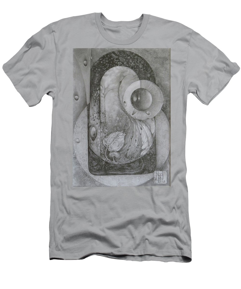 Drawing T-Shirt featuring the drawing Untitled A4 2018-08-01 by Otto Rapp
