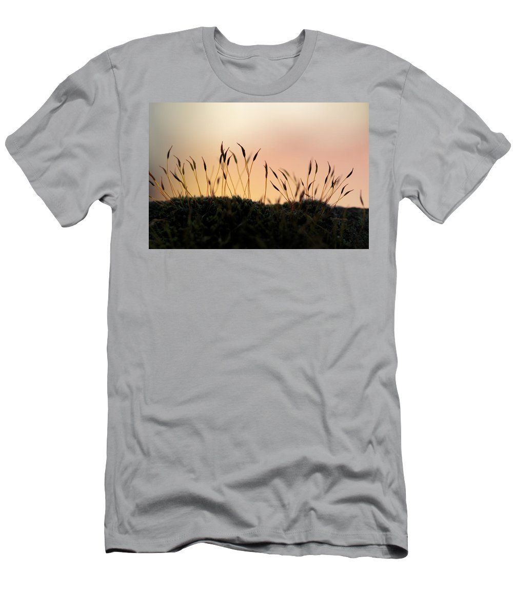Buds Men's T-Shirt (Athletic Fit) featuring the photograph Unusual Sunset by Stefania Levi