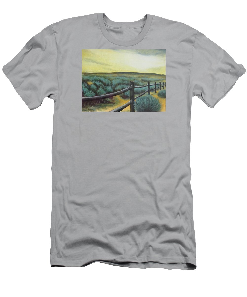Utah Men's T-Shirt (Athletic Fit) featuring the painting Utah Sunset by Lucy Deane