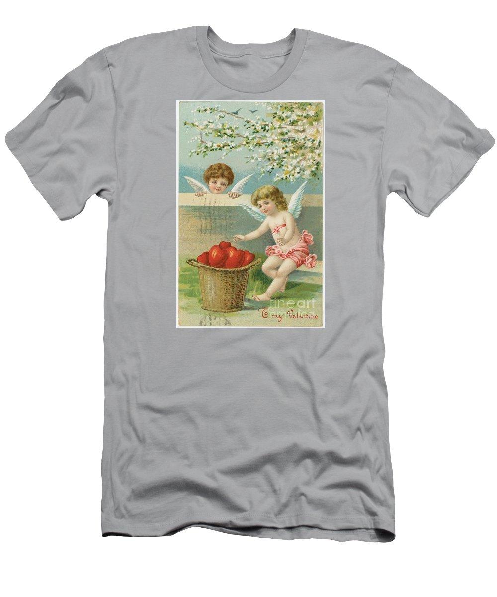Valentine Design Six Men's T-Shirt (Athletic Fit) featuring the painting Valentine Design Six by Pd