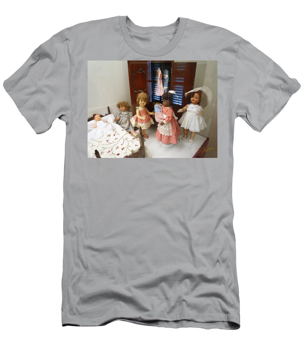 Doll Men's T-Shirt (Athletic Fit) featuring the photograph Valley Of The Dolls by Charles Stuart