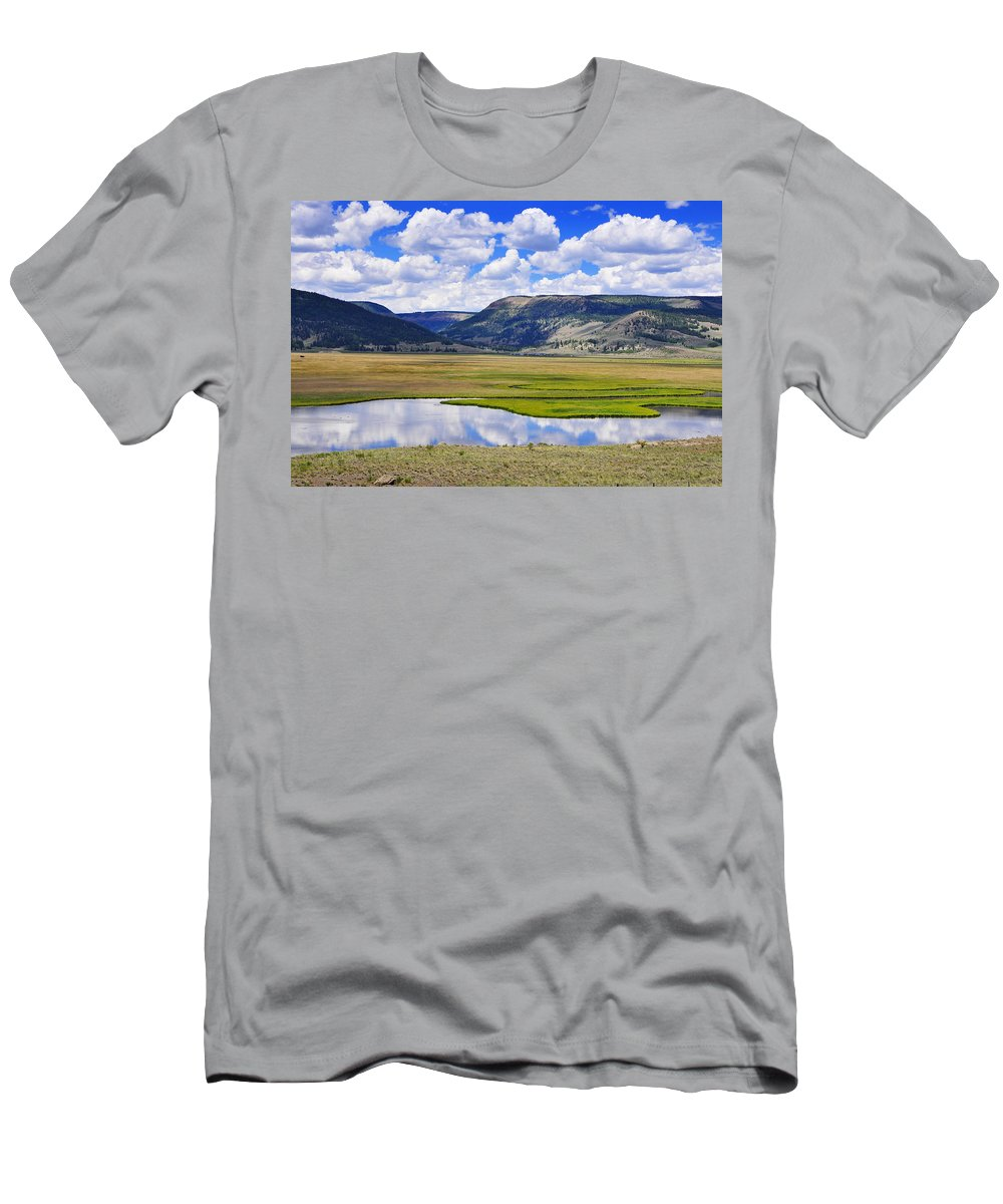 Skip Hunt Men's T-Shirt (Athletic Fit) featuring the photograph Valley Of The Serpent by Skip Hunt