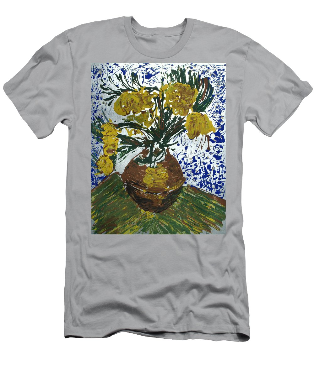 Flowers Men's T-Shirt (Athletic Fit) featuring the painting Van Gogh by J R Seymour