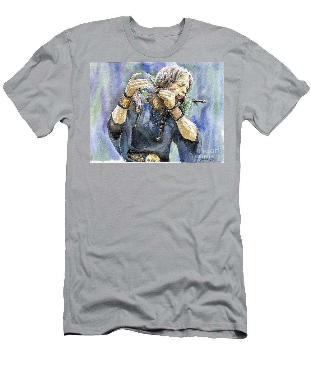 Watercolor Men's T-Shirt (Athletic Fit) featuring the painting Varius Coloribus by Yuriy Shevchuk