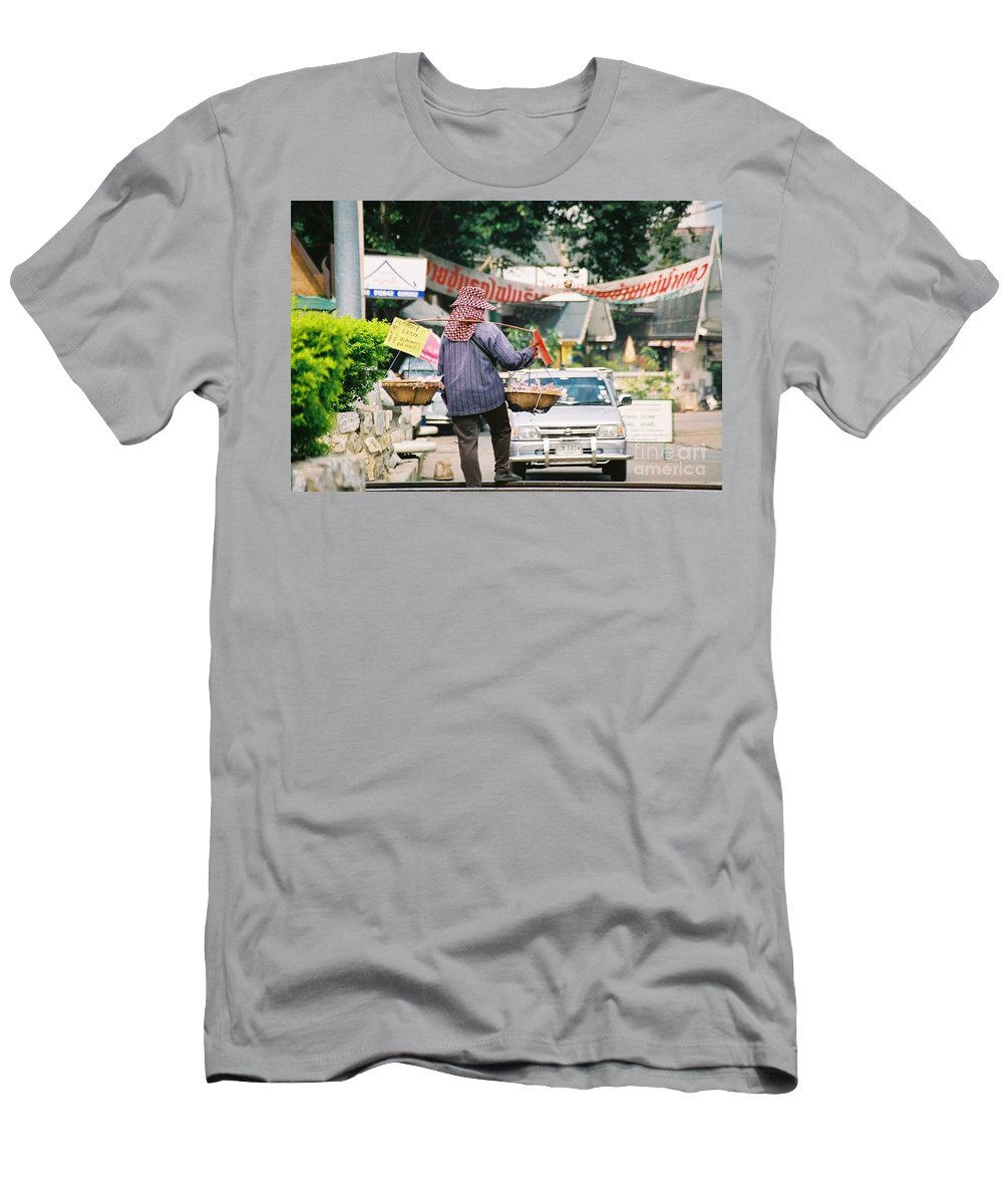 Sales Men's T-Shirt (Athletic Fit) featuring the photograph Vendor by Mary Rogers