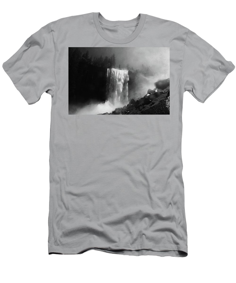Vernal Fall Men's T-Shirt (Athletic Fit) featuring the photograph Vernal Fall And Mist Trail by Raymond Salani III