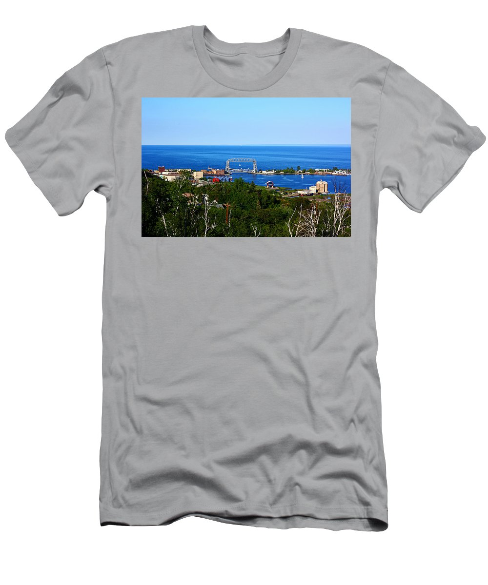 Landscape Men's T-Shirt (Athletic Fit) featuring the photograph View From The Hill by Bryan Benson