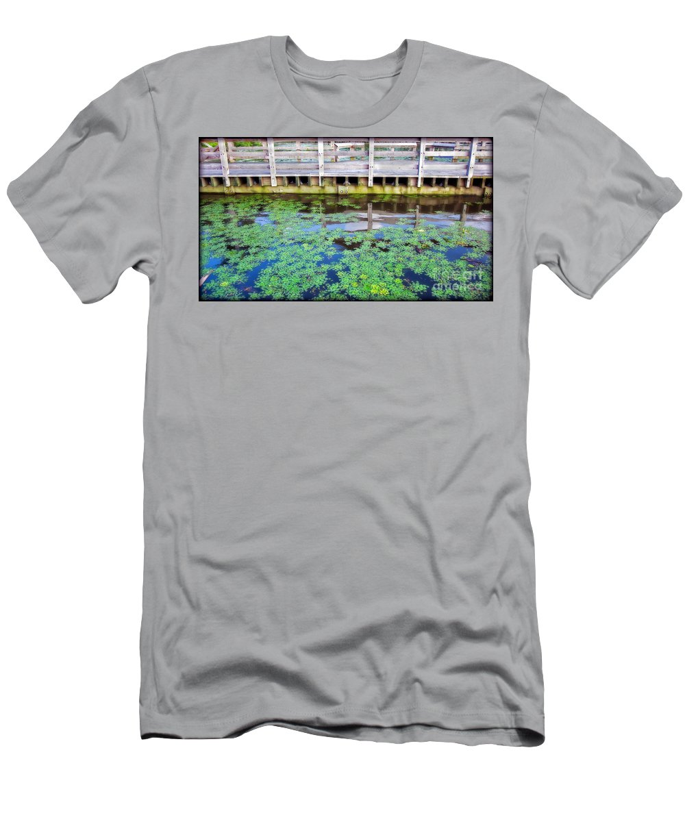 River Men's T-Shirt (Athletic Fit) featuring the photograph View From The Pier by Madeline Ellis