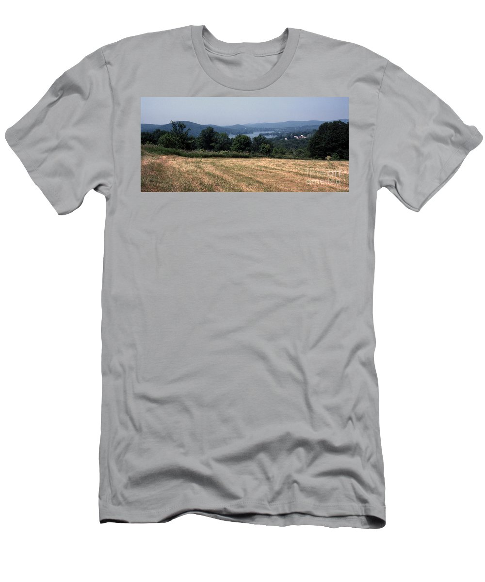 Lake Waramaug Men's T-Shirt (Athletic Fit) featuring the photograph View Of Lake Waramaug by Richard Rizzo