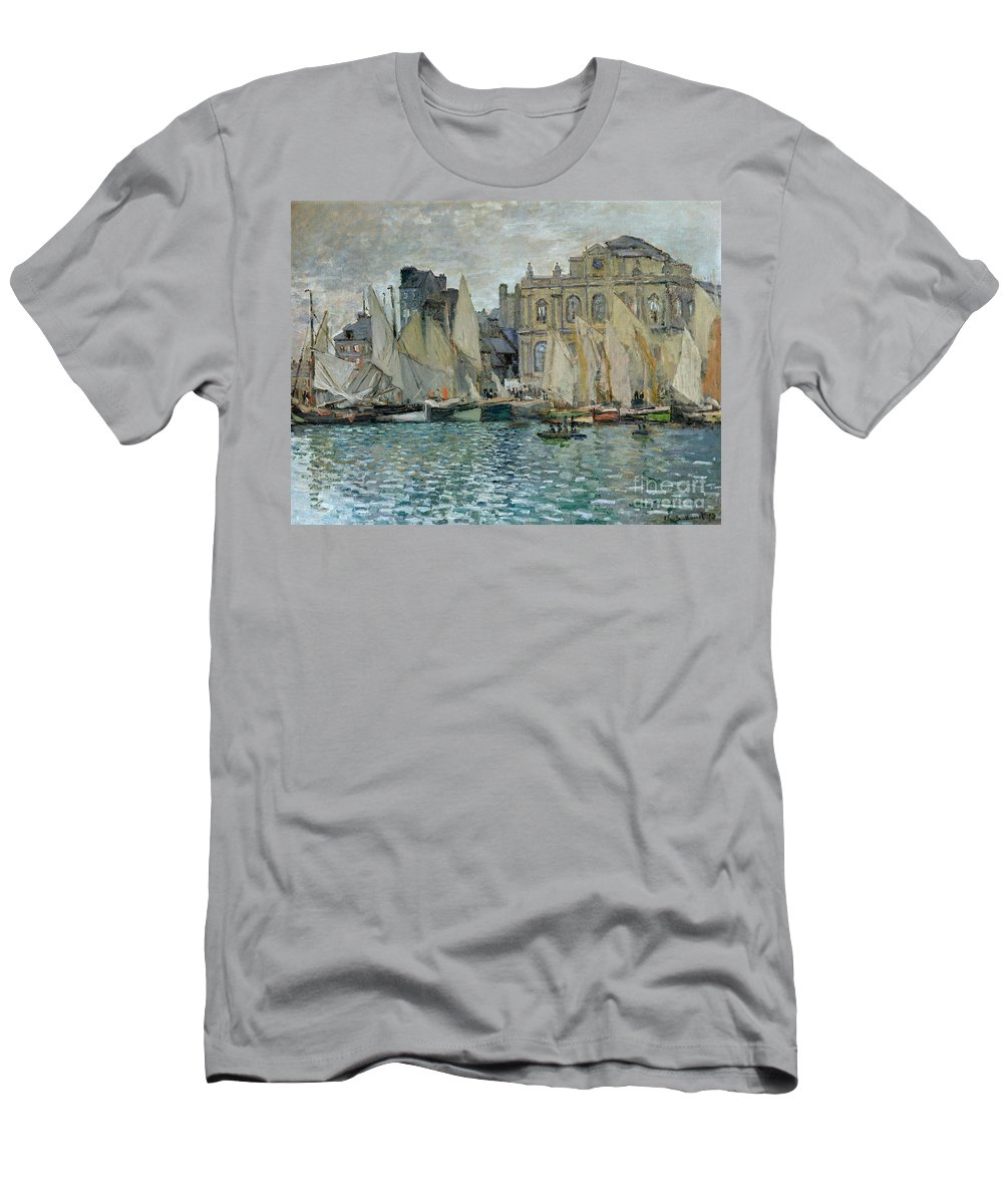 View Of Le Havre Men's T-Shirt (Athletic Fit) featuring the painting View Of Le Havre by Claude Monet