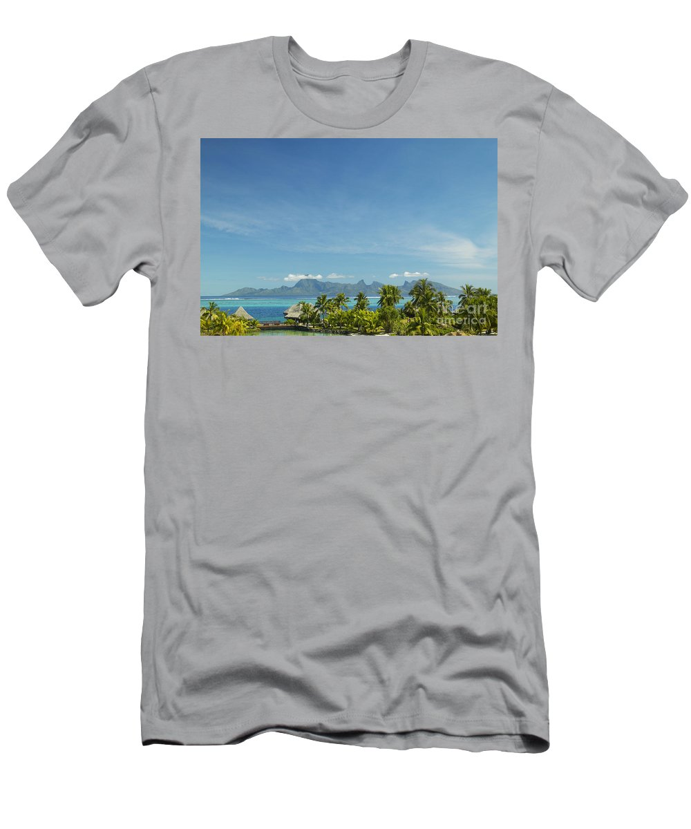 Accommodation Men's T-Shirt (Athletic Fit) featuring the photograph View Of Tahiti by Kyle Rothenborg - Printscapes