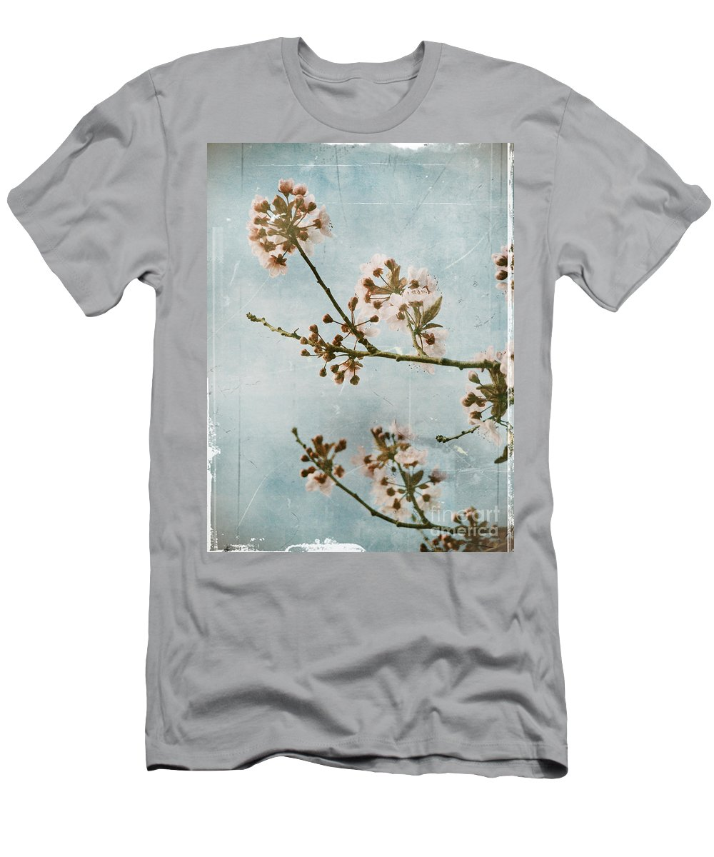 Blossoms Men's T-Shirt (Athletic Fit) featuring the photograph Vintage Blossoms by Tara Turner