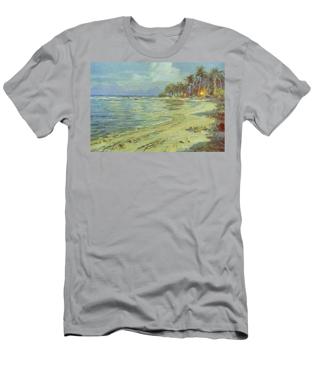 1b441bf4149 1930 Men s T-Shirt (Athletic Fit) featuring the painting Vintage Hawaiian  Art by