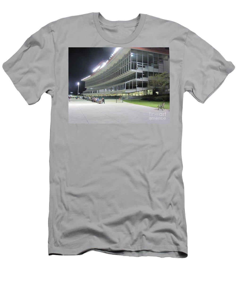 Pompano Park And Poker Men's T-Shirt (Athletic Fit) featuring the photograph Vintage Pompano Park by Daniel Diaz